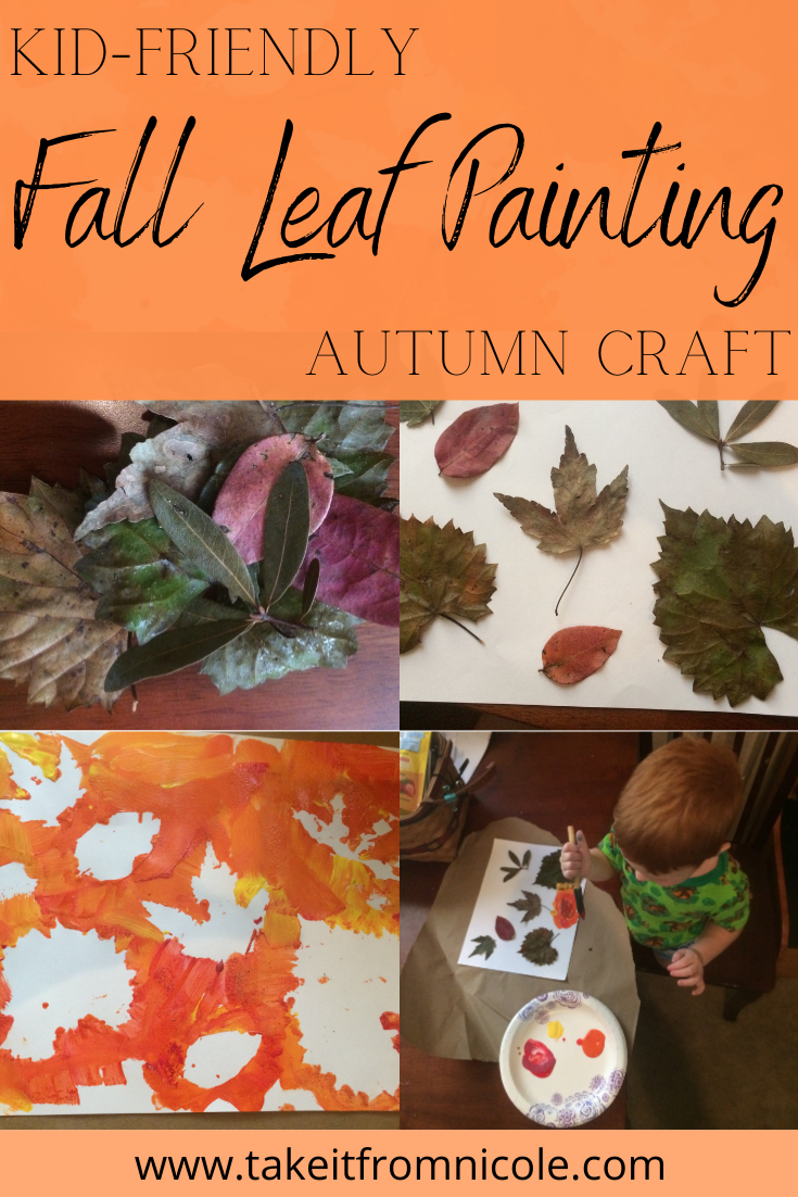 Fall Leaf Painting Activity for Preschoolers and Toddlers
