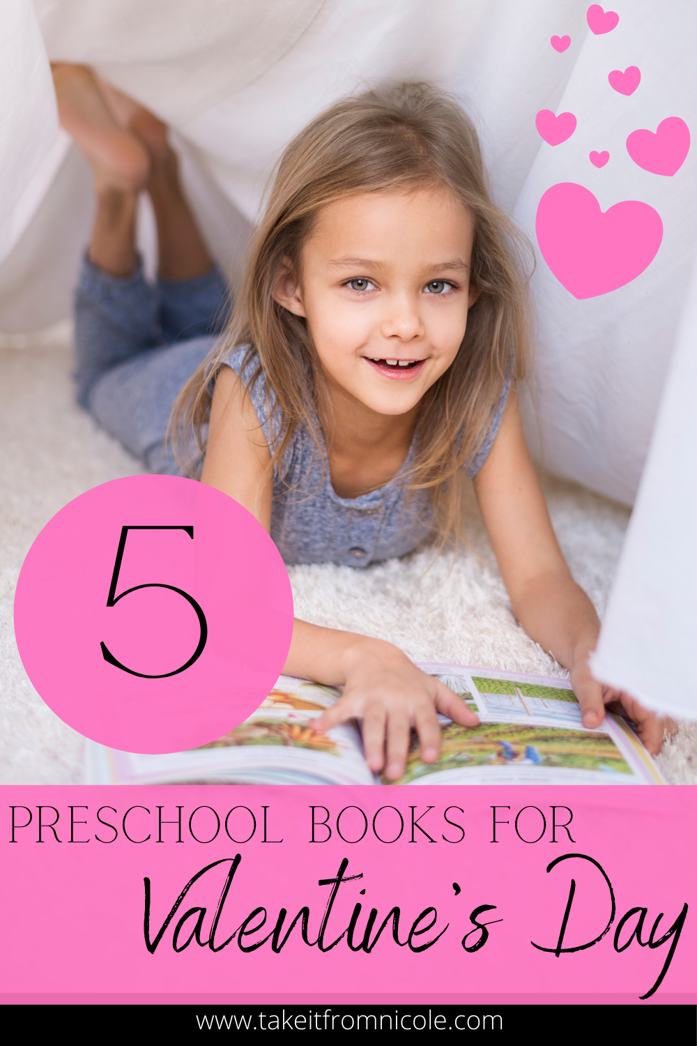 Instead of candy give your toddler or preschooler a sweet Valentine's Day book. 5 books that are perfect for little kids.