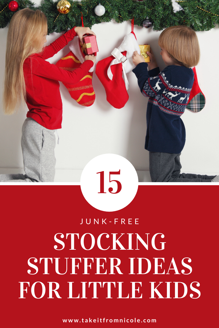 Junk free ideas for stocking stuffers for little kids. Find the perfect gifts for children's Christmas stockings.