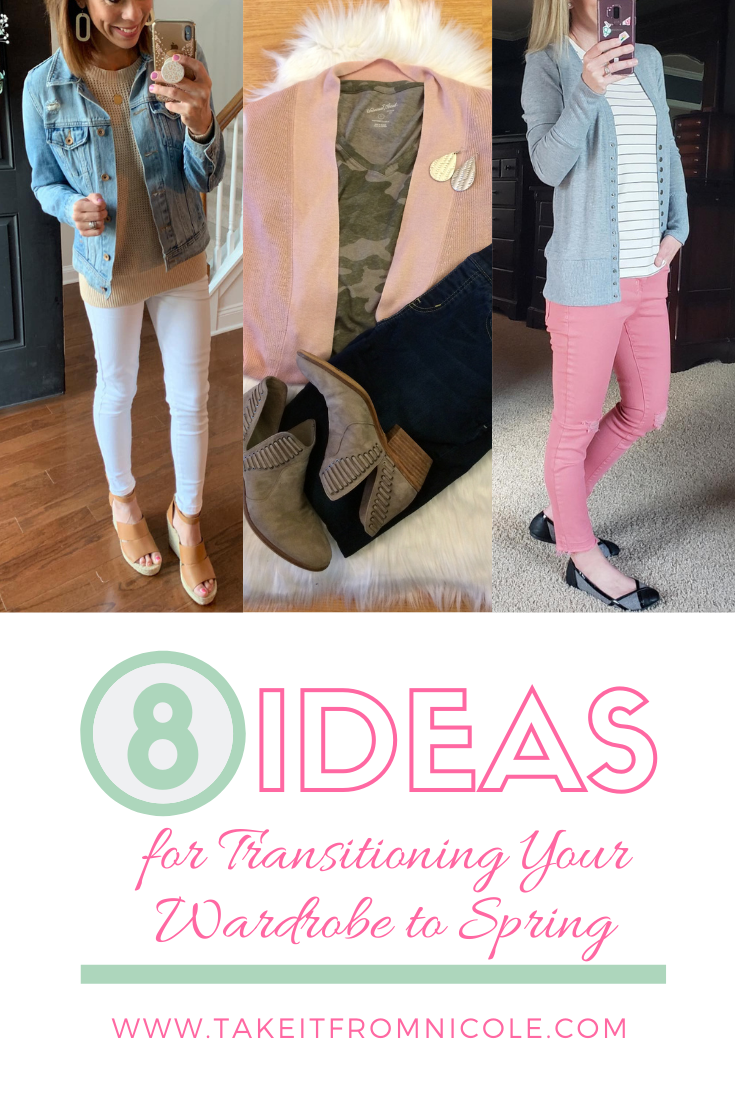 8 super cute and affordable ideas to transition your wardrobe to spring. Mom outfit inspiration and budget friendly style.