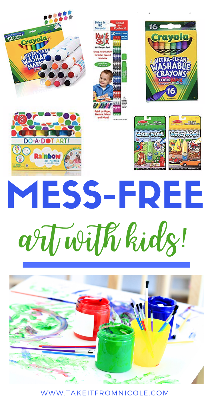 My kids love art but are SO messy! I feel like I have tried every arts and craft item on the market and have carefully curated a collection of art supplies that will inspire their creativity while maintaining what's left of my sanity.