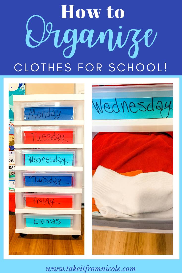 School Clothes Organizer