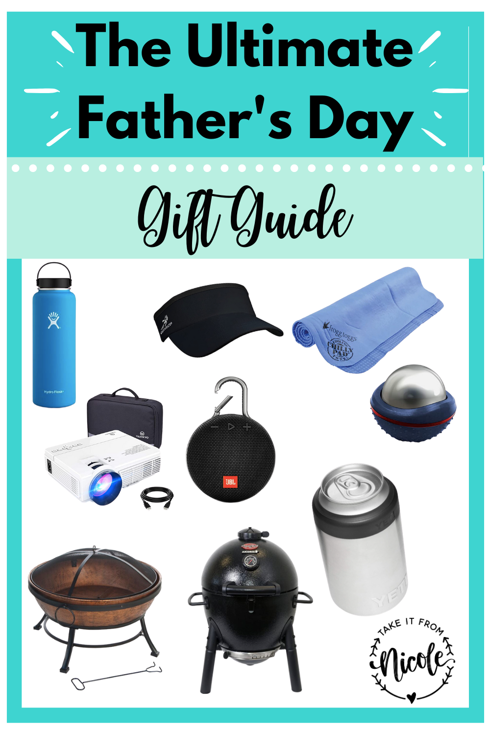 My dad and my husband are both notoriously difficult to shop for and I have the hardest time finding gifts for them so that's why I put together this guide! I'm hoping there's something for everyone here that will be a crowd pleaser. Whether you are buying for an outdoorsman, a grill master, or a techie this list should have you covered.