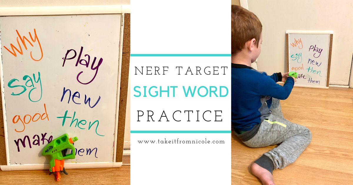 Sight Word Target Practice + Free Sight Word Lists