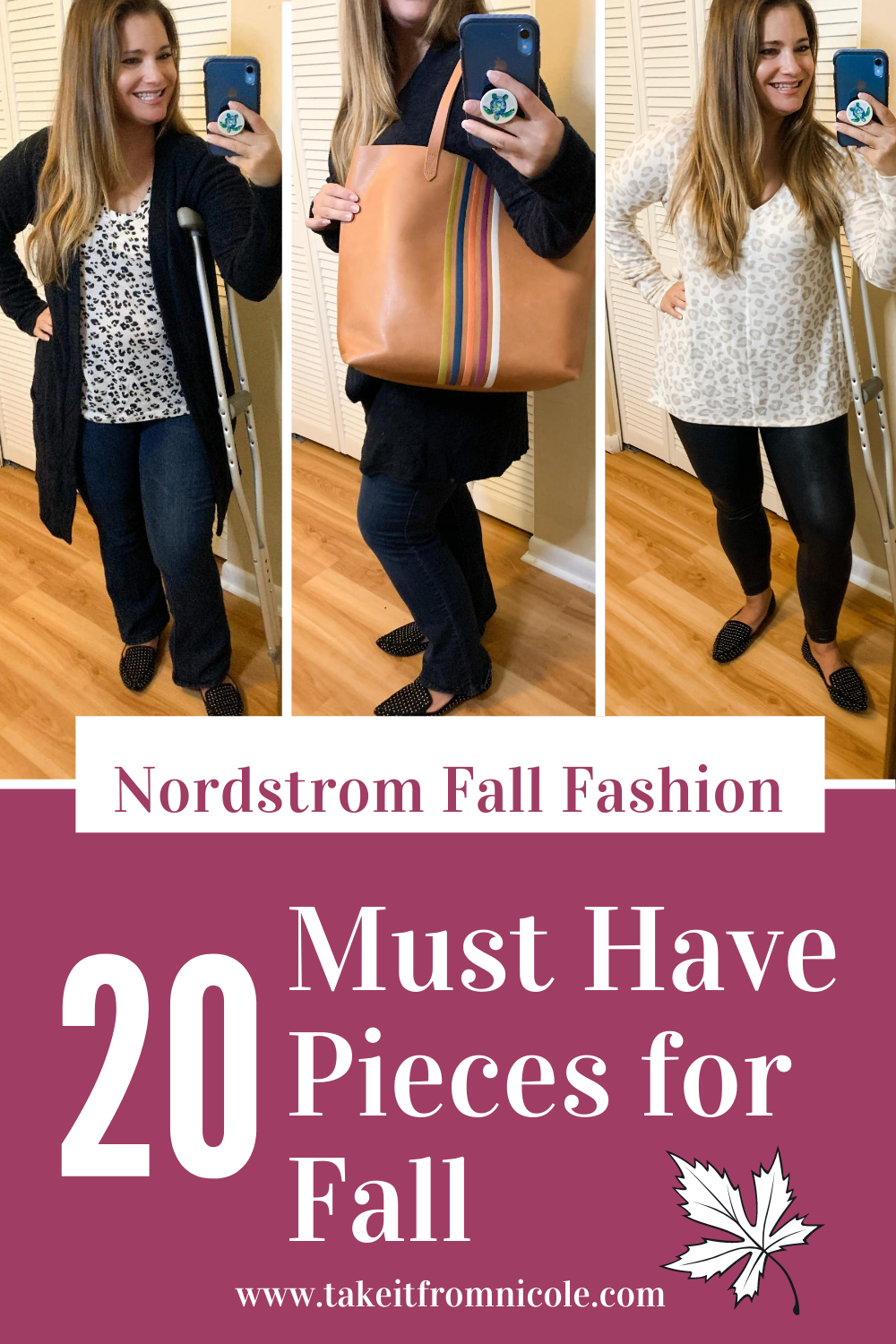 Tampa Curvy Midsize Mom Blogger highlights 20 must have fall fashion pieces you need from Nordstrom. Budget friendly, affordable classic style.  Sweaters, tees, cardigans, leggings, jeans, shoes, bags.