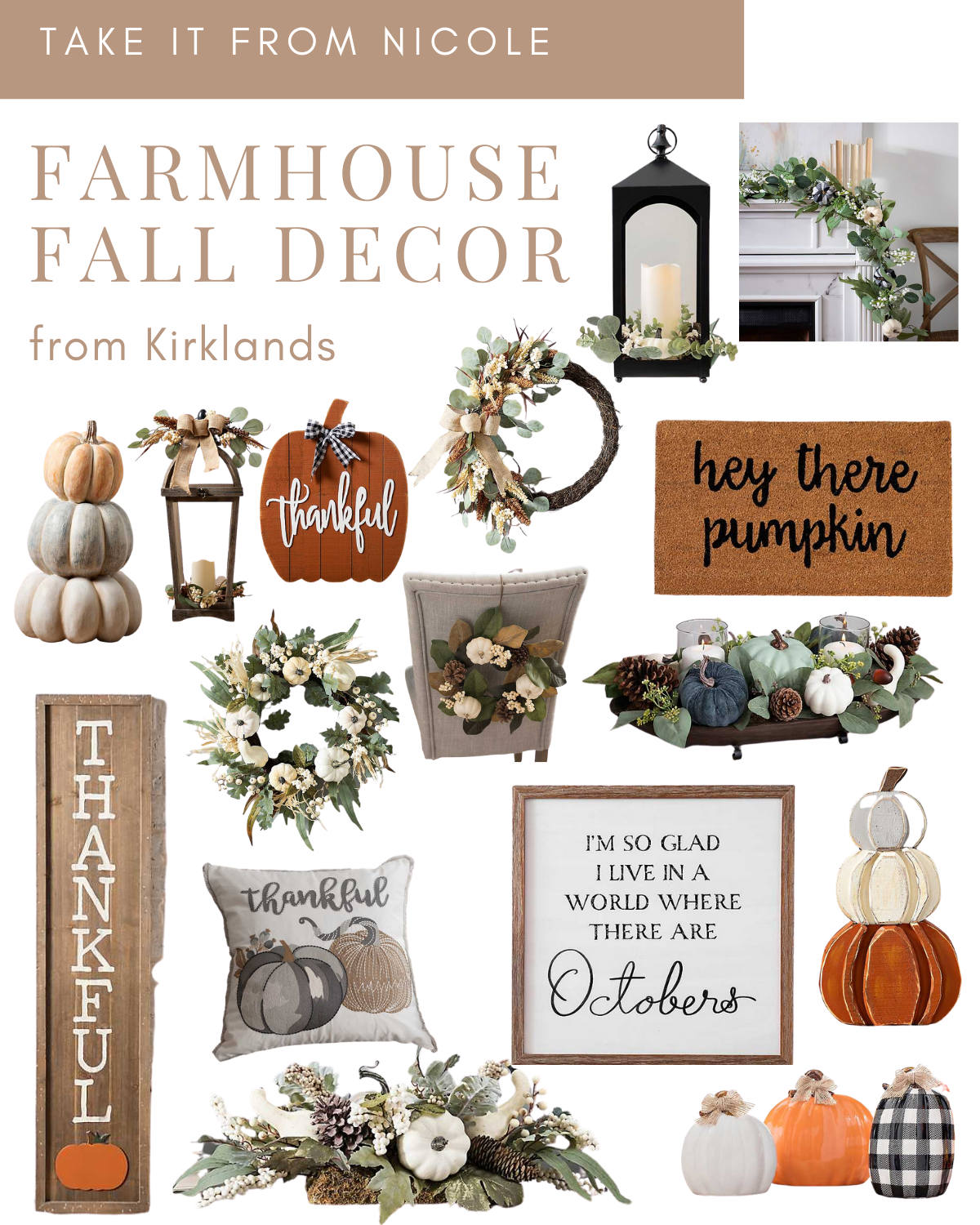 I rounded up some Fall Decor Favorites from Kirklands! So many cute autumn decorations- lots of pumpkins, buffalo plaid, signs, wreaths, greenery, centerpieces etc. Shop them in the link