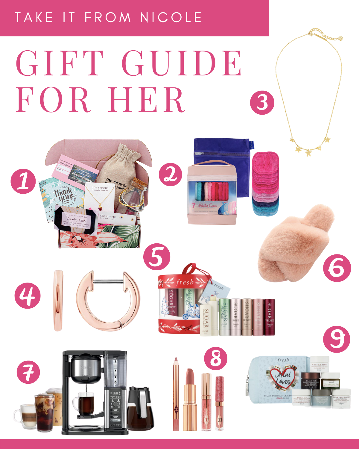 Christmas and holiday gift guide for her. Whether you are shopping for your girlfriends, mother, or yourself you are sure to find something! I tried to keep in mind that we are spending a lot more time at home and include some fun beauty items to pamper her. Hits a variety of price points.