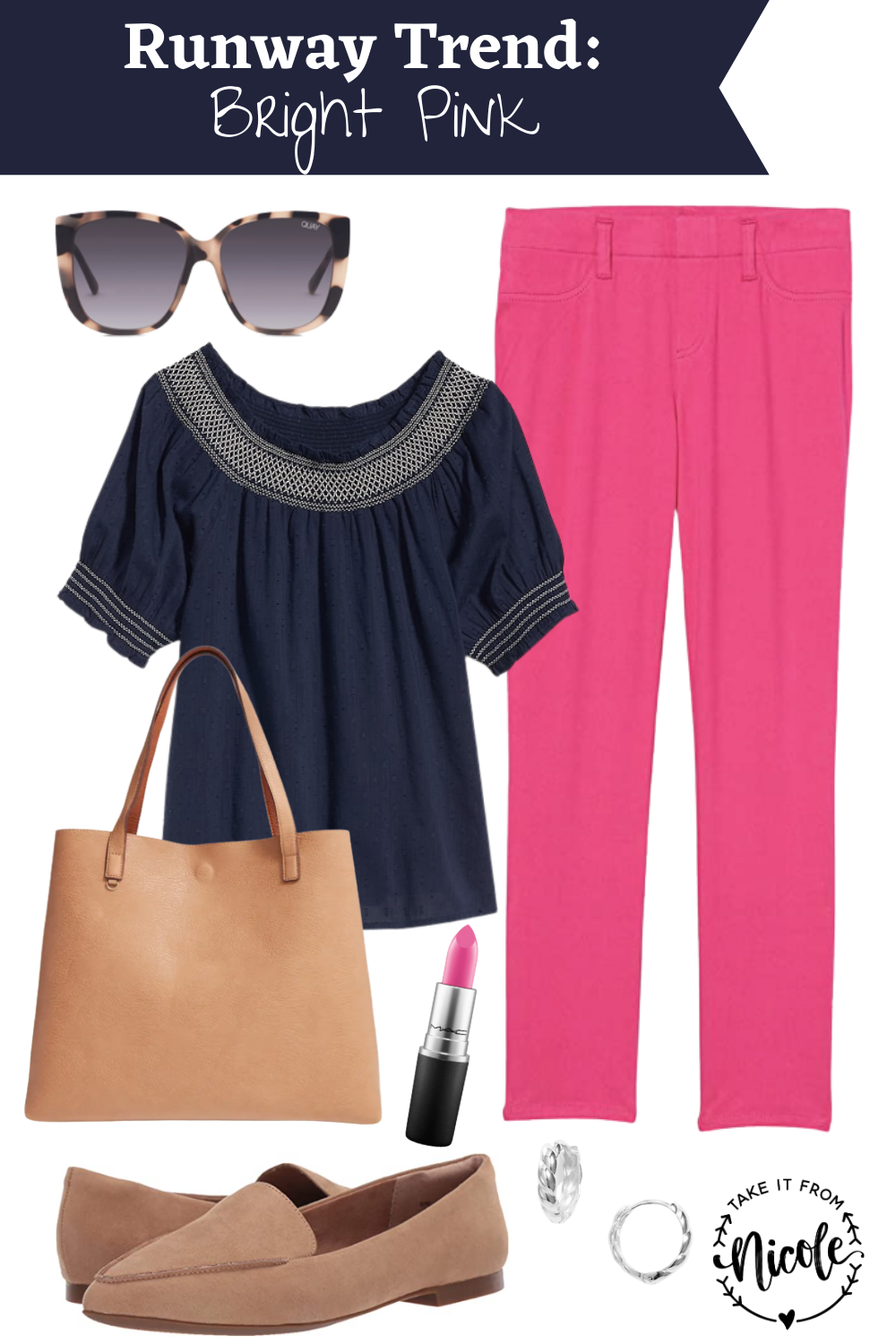 Bubblegum pink is a hot trend on the runways for Spring 2021. Here's 2 outfit ideas to incorporate it into your daily wardrobe on a budget.