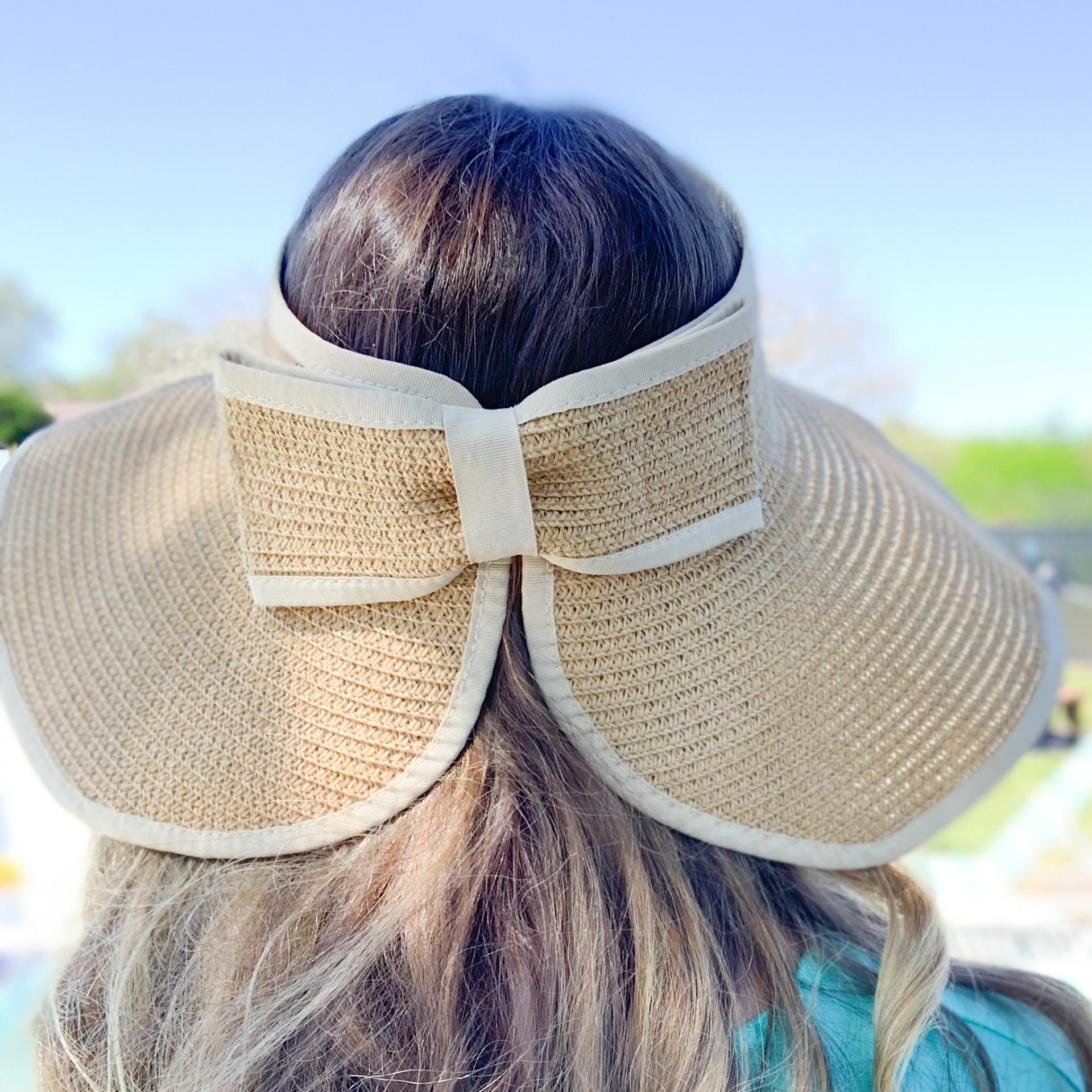 Beach vacation capsule wardrobe- packable sun hat visor