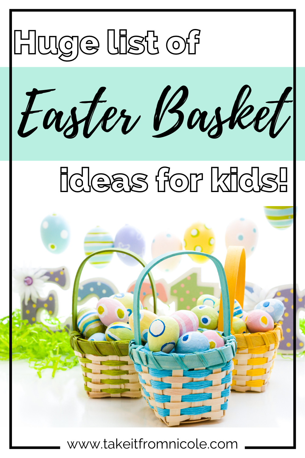 The ULTIMATE list of ideas for Easter Basket fillers for little kids. Junk free ideas that moms and kids will love.
