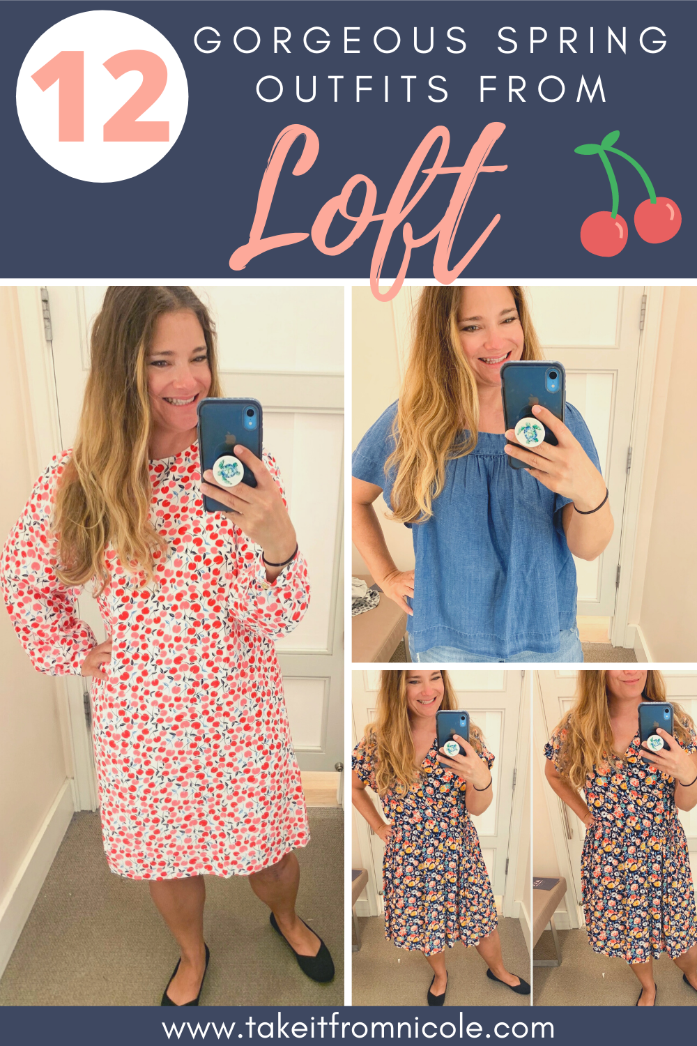 Spring outfit essentials from Loft. See some of the prettiest new releases on a midsize size 12 mom. Petite style blogger. Spring Dresses and tops for women over 30.