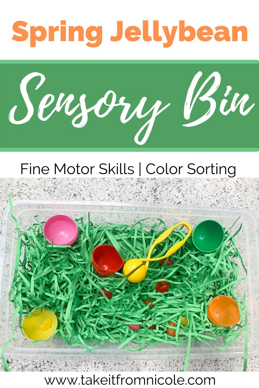 Spring Jellybean Sensory Bin
