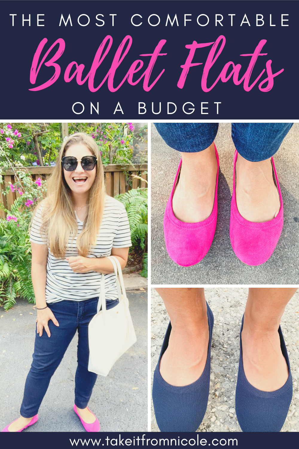 These budget friendly ballet flats are sure to be a staple in your wardrobe! They are very comfortable and come in a rainbow of colors. These are great for both casual and work wear.
