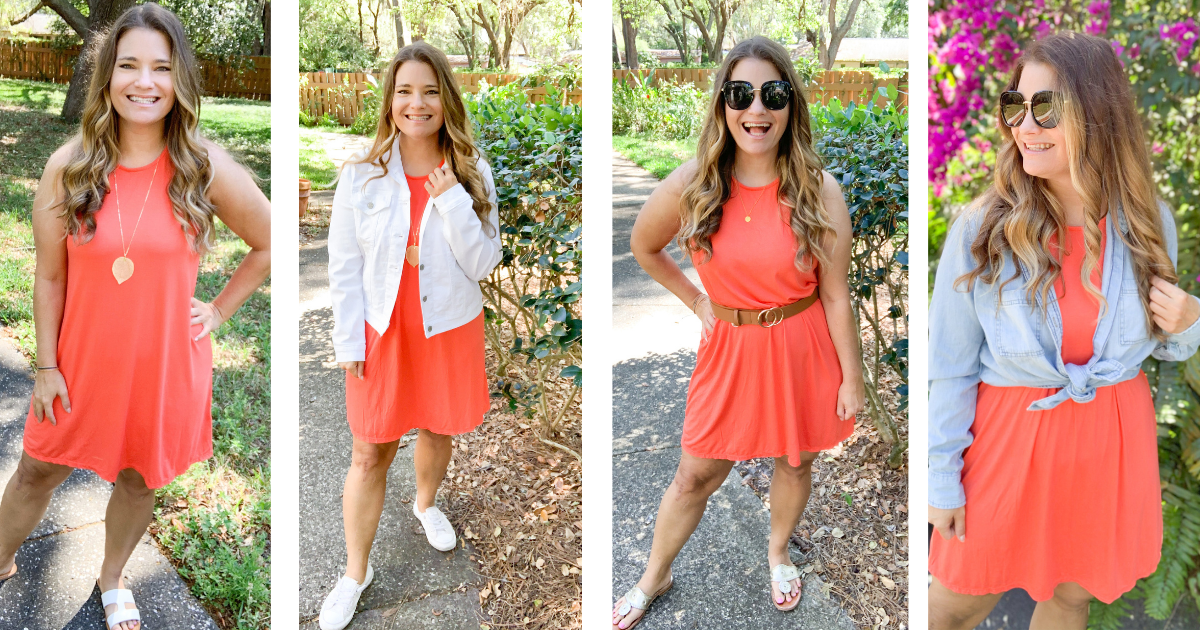 How to Style A Tank Dress 4 Ways