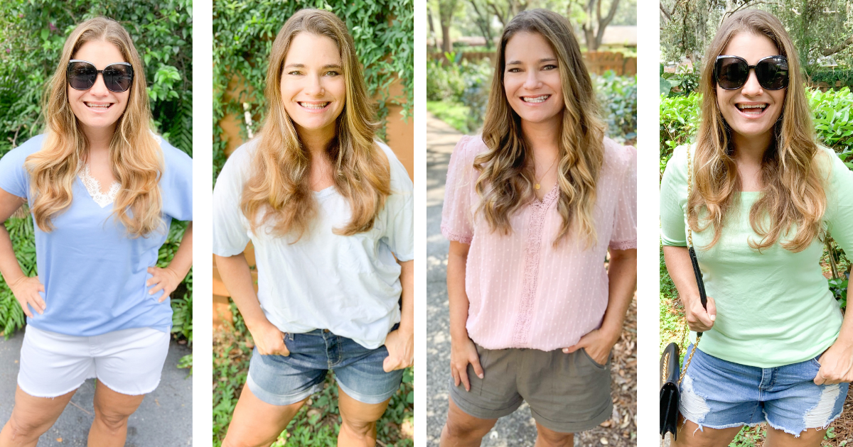 Four photos of shorts.