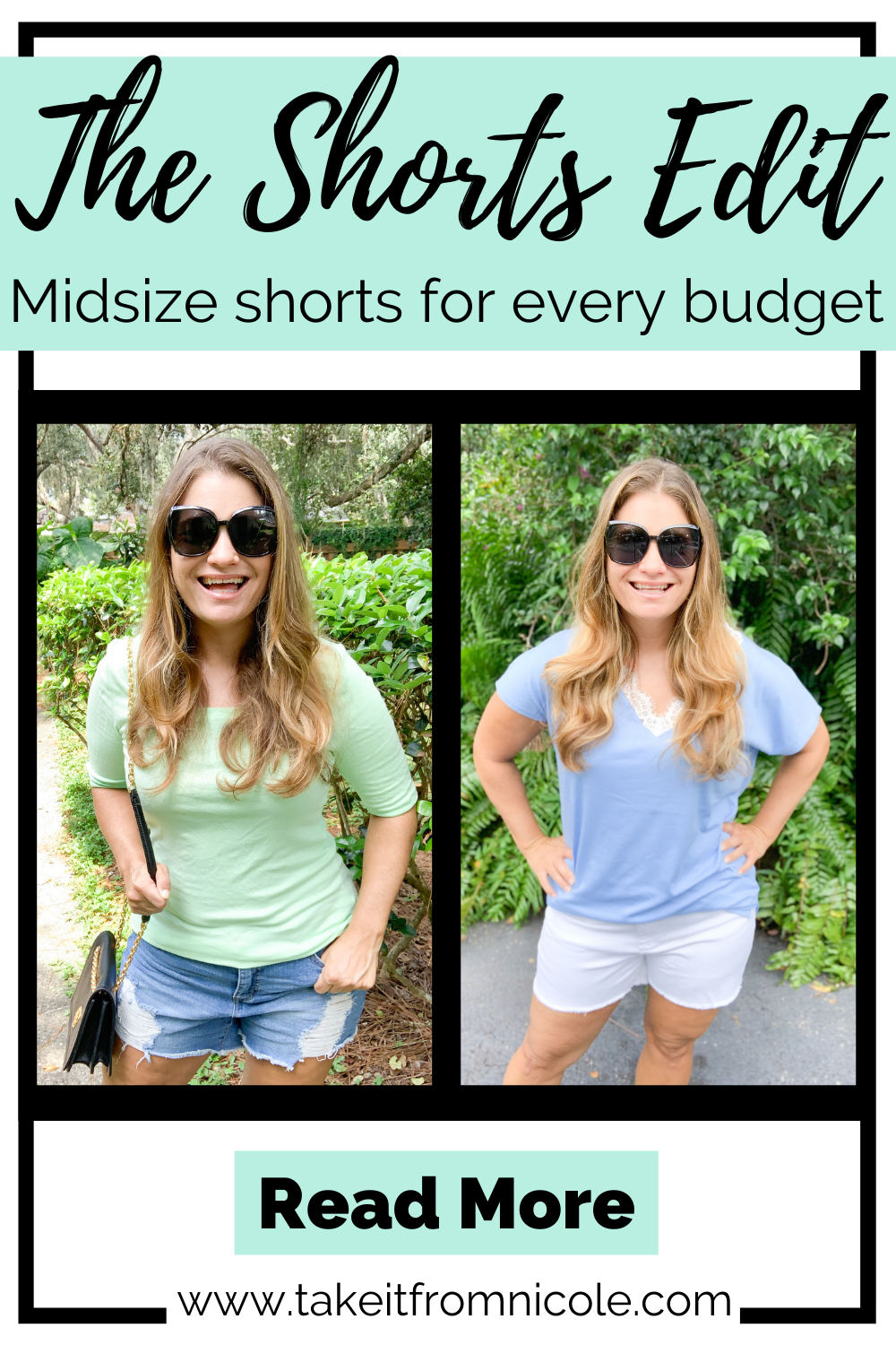 Shorts shopping doesn't have to be torture! Midsize style blogger Take It From Nicole shares her favorite shorts for every budget.