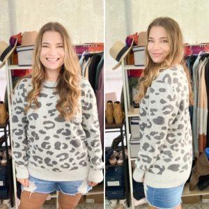 Daily Ritual Leopard Sweater